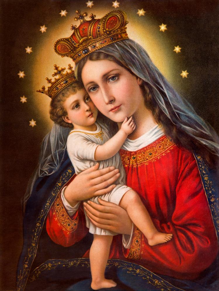 Mẹ Ma-ri-a Và Chúa Giê-su Hài Nhi